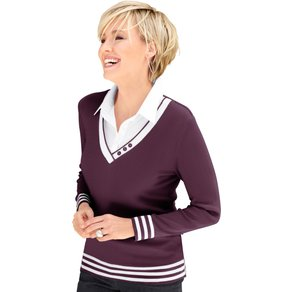 Collection L Damen 2-in-1-Pullover rot Gr 36