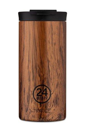 24bottles 24bottles - Kubek termiczny Travel Tumbler Sequoia Wood 600ml