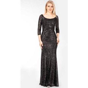 prestije de Pailletten-Kleid mit 3 4 Ärmeln