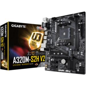 Gigabyte GA-A320M-S2H V2 mATX Mainboard Sockel AM4 GL HDMI DVI VGA M 2