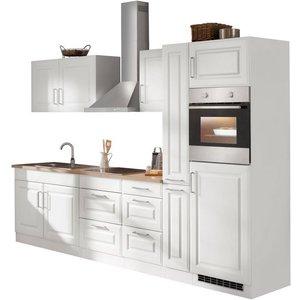HELD MÖBEL Küchenzeile Stockholm mit E-Geräten Breite 300 cm