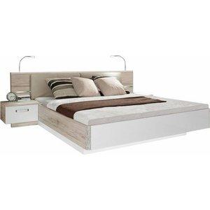 FORTE Schlafzimmer-Set Rondino mit Polsterkopfteil und LED-Beleuchtung wahlweise oder ohne Bettbank