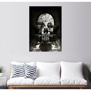 Posterlounge Wandbild Ali Gulec Room Skull BW