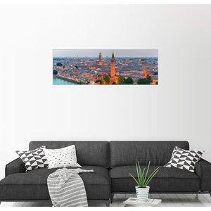 Posterlounge Wandbild Verona-Skyline mit Fluss