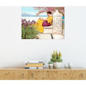 Posterlounge Wandbild John William Godward Unter Blüten