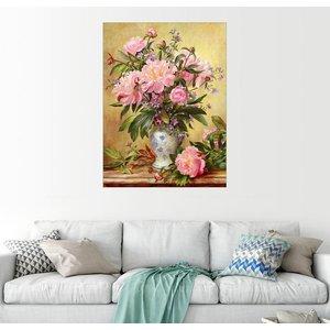 Posterlounge Wandbild Albert Williams Vase mit Pfingstrosen und Glockenblumen