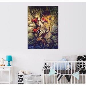 Posterlounge Wandbild Petar Meseldzija Gandalf im Kampf