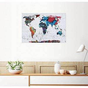 Posterlounge Wandbild Mark Ashkenazi Graffitti Karte Weltkarte