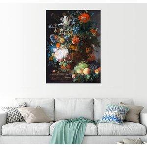 Posterlounge Wandbild Jan van Huysum Stillleben mit Blumen und Früchten