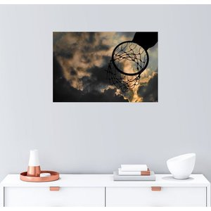 Posterlounge Wandbild Basketballkorb und Himmel