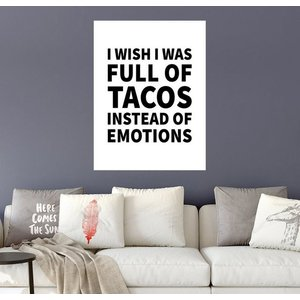 Posterlounge Wandbild Creative Angel I wish I was full of tacos instead on emotions
