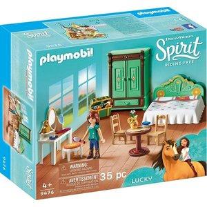 Playmobil Konstruktions-Spielset Luckys Schlafzimmer 9476 Spirit Riding Free Kunststoff