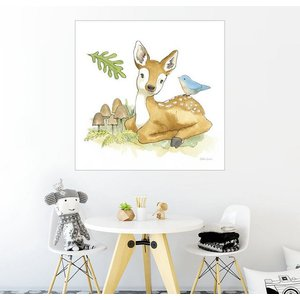 Posterlounge Wandbild Beth Grove Baby Reh im Wald III