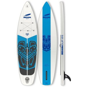 Indiana Paddle Surf Inflatable SUP-Board Indiana 8 6 Kids Inflatable Longboard Set