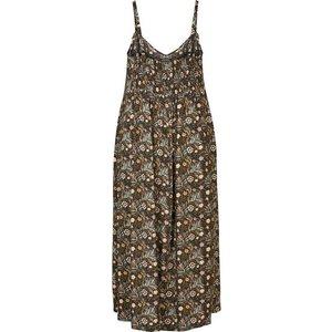 Zizzi Smokkleid Damen Grosse Grössen Kleid Blumenmuster Spaghettiträger Sommerkleid