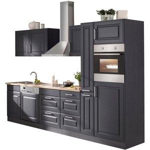 HELD MÖBEL Küchenzeile Stockholm mit E-Geräten Breite 310 cm