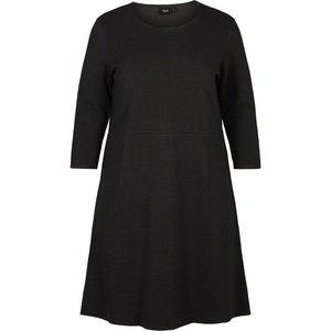 Zizzi Jerseykleid Damen Grosse Grössen Kleid Elegant Spitze 3 4 Arm Abendkleid
