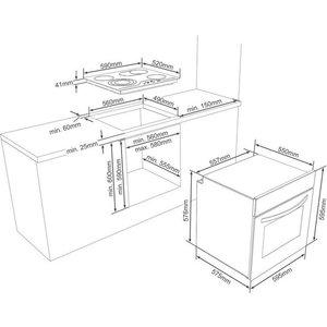 Vestel Elektro-Herd-Set VEH12016-1 VEK23016