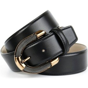 Anthoni Crown Ledergürtel mit aufwendiger Schmuck-Schliesse in goldfarben