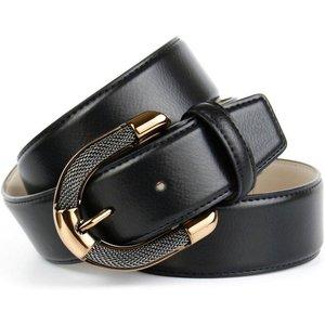 Anthoni Crown Ledergürtel mit aufwendiger Schmuck-Schliesse