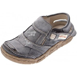TMA Komfort Sandalen Leder Schuhe 7668 Halbschuhe Schnürschuh Used-Look bzw Vintage-Look Frühjahr Sommer
