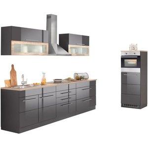 HELD MÖBEL Küchenzeile Wien mit E-Geräten Breite 340 cm wahlweise Induktion