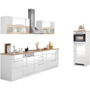 HELD MÖBEL Küchenzeile Wien mit E-Geräten Breite 350 cm wahlweise Induktion
