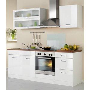 HELD MÖBEL Küchenzeile Fulda mit E-Geräten Breite 210 cm