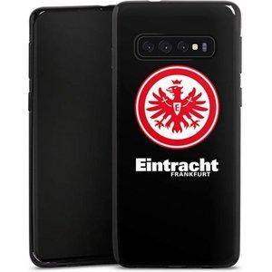 DeinDesign Handyhülle Eintracht Frankfurt schwarz Samsung Galaxy S10 Hülle Eintracht SGE Adler