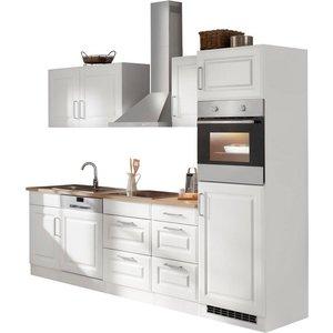 HELD MÖBEL Küchenzeile Stockholm mit E-Geräten Breite 280 cm