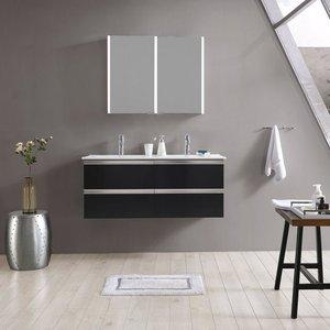maw Badezimmerspiegelschrank A-SPS9070 LED-Spiegelschrank 2-teilig 90x12x70 cm
