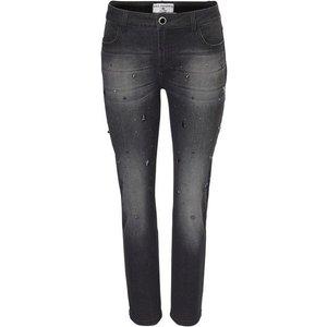 heine STYLE Boyfriend-Jeans mit Schmucksteinchen