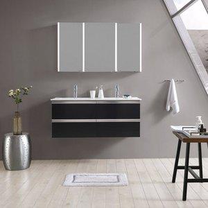maw Badezimmerspiegelschrank A-SPS12070 LED-Spiegelschrank 3-teilig 120x12x70 cm