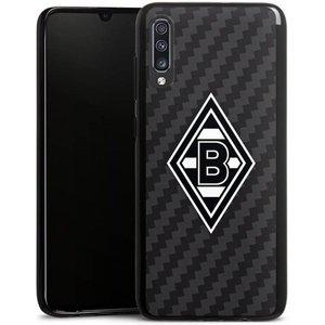 DeinDesign Handyhülle Borussia Raute Carbon Samsung Galaxy A70 Hülle Gladbach Borussia Mönchengladbach Carbon