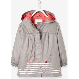 Vertbaudet Jacke für Mädchen Fleecefutter grau Gr 86 von