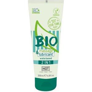 "HOT Massage- Gleitgel HOT BIO waterbased 2in1"" 100 bio"