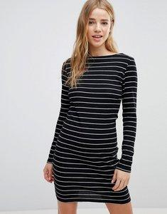 Read more about Jdy striped bodycon dress - black