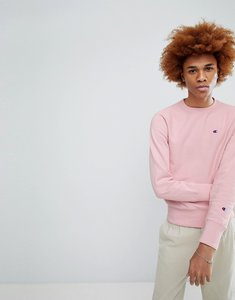 Read more about Champion sweatshirt with small logo in pink - pink