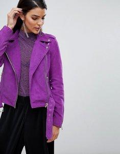 Read more about Y a s suede biker jacket - purple