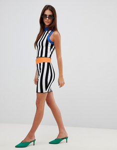 Read more about Missguided contrast stripe knitted skirt - multi