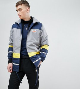 Read more about Ellesse colour block track jacket with back panel print in blue - blue