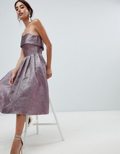 Read more about Forever unique metallic strapless prom dress - purple