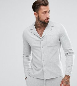 Read more about Asos brushed cotton pyjama shirt - grey
