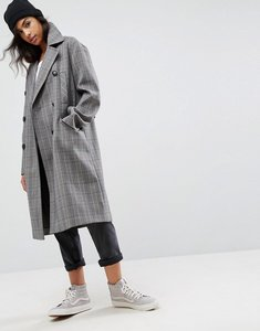 Read more about Asos ultimate check coat - brown