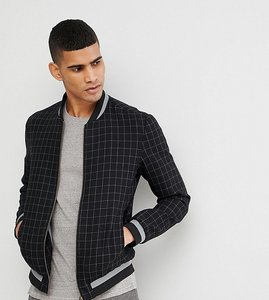 Read more about Noak bomber jacket in navy wool check - navy
