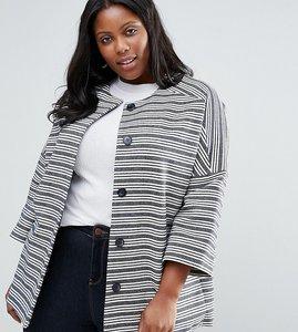 Read more about Helene berman plus kimono jacket in stripe - ivory navy