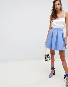 Read more about Asos design scuba box pleat mini skirt - blue