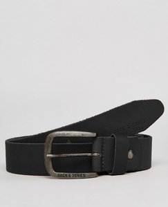 Read more about Jack jones belt in leather - black