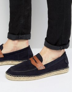 Read more about Hudson london juan suede slip on suede espadrilles - navy