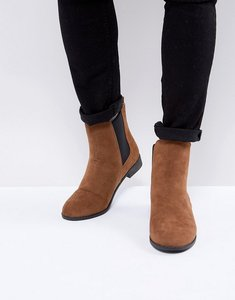 Read more about Brave soul chelsea boots in tan - tan